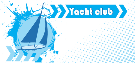 bruise: Abstract horizontal yacht club banner Illustration