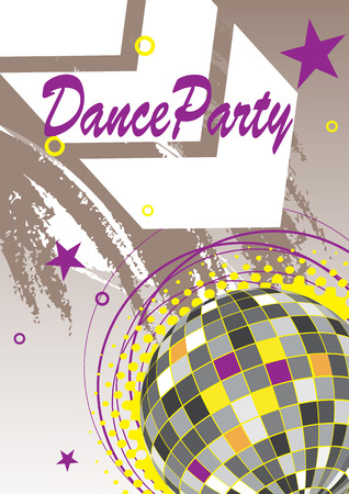 discoteque: Dance party poster with arrow