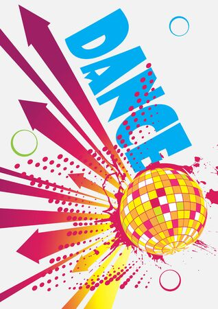 discoteque: Dance party poster with arrows