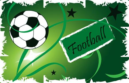 card: Football.Invitation card. Illustration