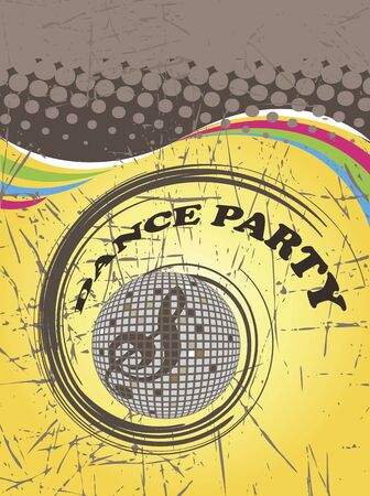 discoteque: Dance party poster.Abstract spiral