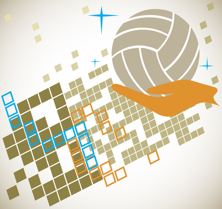 motive: Abstract volleyball motive Illustration