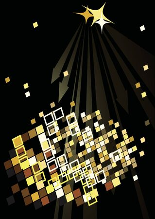 limelight: Dance party poster with abstract lights Illustration