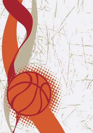 playfield: Vertical basketball poster.Abstract background