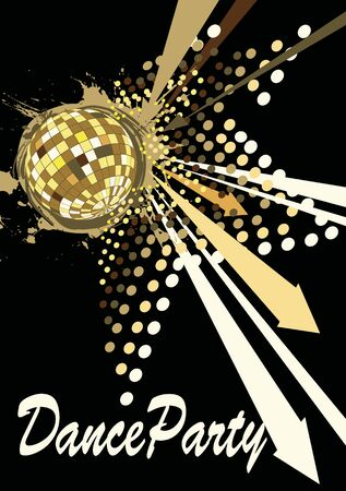 to pulsate: Dance poster with pulsate star