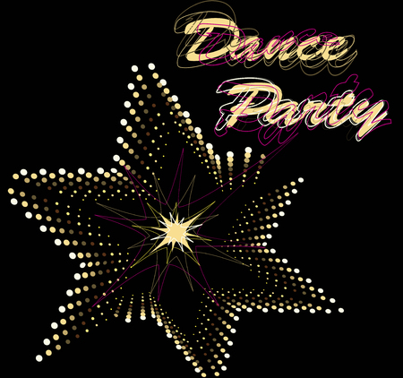 discotheque: Dance party star Illustration