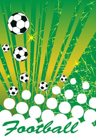 bannière football: bannière de football Résumé .Vertical fond vert