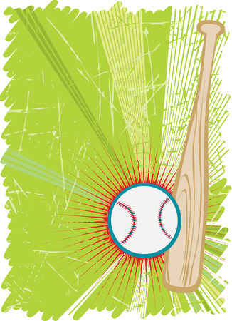 outfield: Vertical basball poster with red star.Vector illustration. Illustration