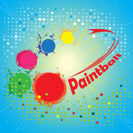 paintball: Paintball circle.Abstract square banner