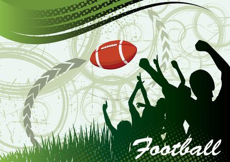 college footbal: American football banner Illustration