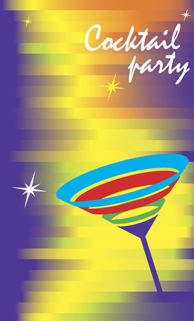 Invitation card for cocktail party.Vector illustration. Illustration