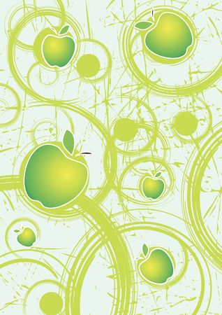 Abstract background with apples.Organnic food and cocktails