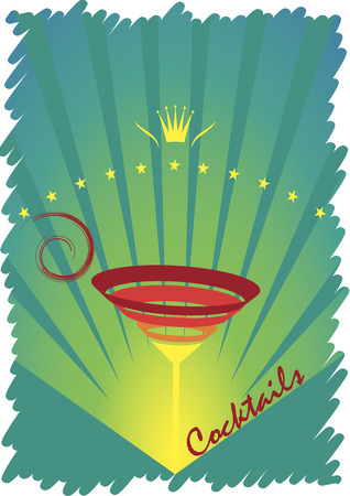 The king of cocktails.Abstract vector illustration