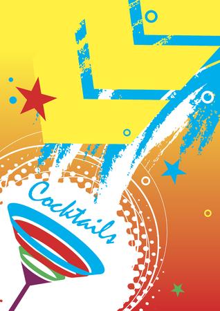 Cocktails.Abstract vertical illustration Illustration
