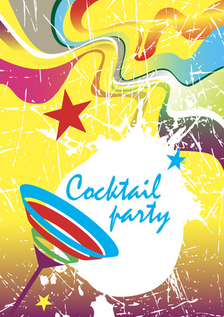 Cocktail party .New Years banner