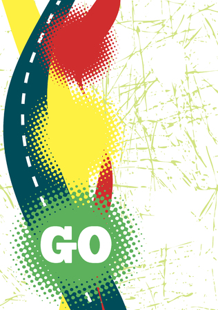 the traffic lights: Abstract poster with traffic lights
