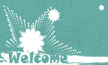 mountainside: Abstract winter welcome banner Illustration