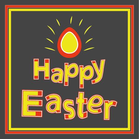 ostern: Happy Easter Vector Background. Vector Easter vintage card.