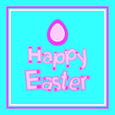 ostern: Happy Easter. Vector Background. Vector lettering Easter card. Illustration