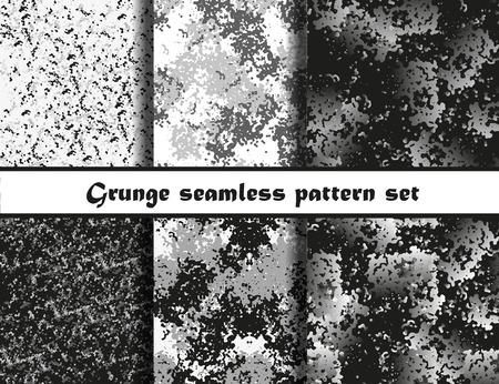 Grunge textures set. Background Collection. Vector illustration. Grunge seamless pattern set.