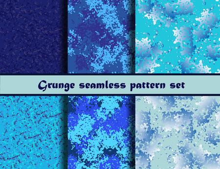 grunge textures: Grunge textures set. Background Collection. Vector illustration. Grunge seamless pattern set. Illustration