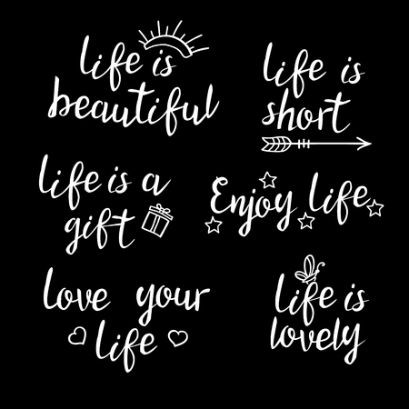 Lettering Life Quotes Calligraphy Inspirational Quote About Stunning Short Life Quotes