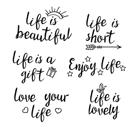 Lettering Life Quotes Calligraphy Inspirational Quote About