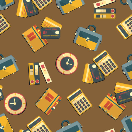 auditing: Seamless pattern with finance, accounting and auditing icons. Business economic illustration.