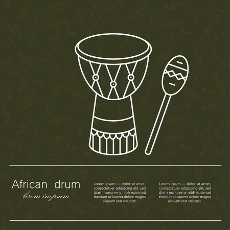 ceremonies: Vector  African drum for religion and ceremonies. The symbol of African music and culture.