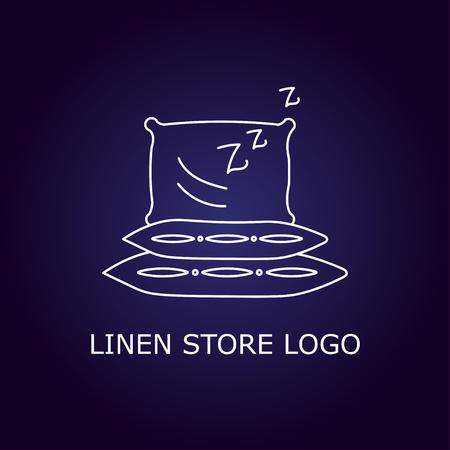 housing estate: Creative concept symbol for hotel, hostel, travel, housing rent, real estate. Linen store logo. Vector