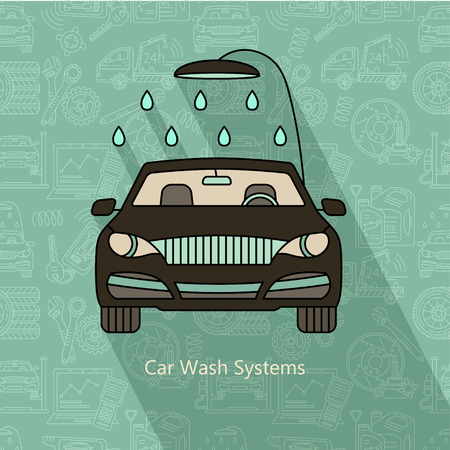 car wash: Car Wash Systems. Vector modern logo.