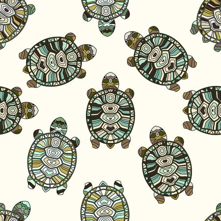 Seamless vector Pattern with turtles.
