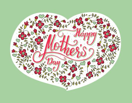 short phrase: Color vector card for Mothers Day.