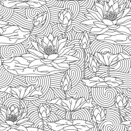 Adult antistress coloring page. Illustration