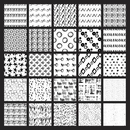 digitized: WebBig bundle of 50 vector hand drawn seamless textures. Grunge styled, ultimate hand drawn with ink and then digitized into vector.
