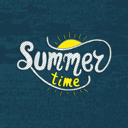 moderm: Summer time. Unique lettering poster.