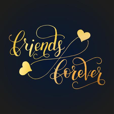 Cartão de rotulação para o dia da amizade. Caligrafia única Handdrawn para cartões, canecas, t-shirts, ets.