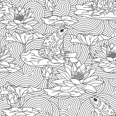 Adult antistress coloring page. Stock Photo