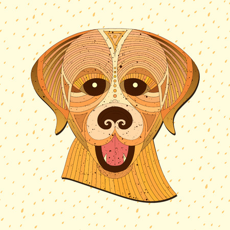 detailed image: Geometric vector animal. Illustration