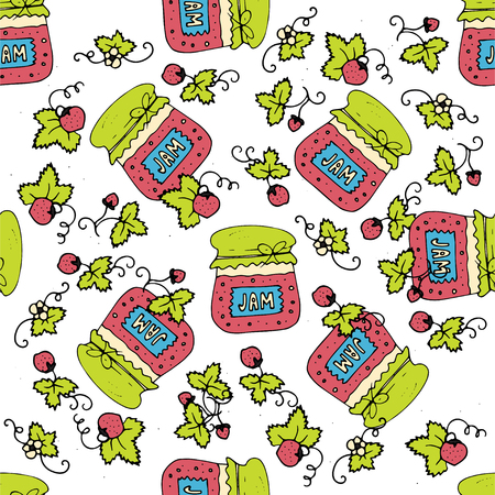 Seamless pattern with jam marmalade.