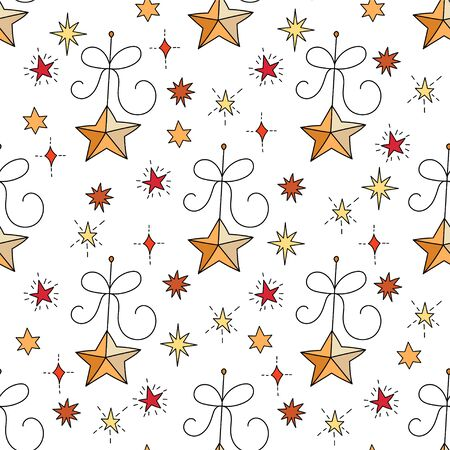 Vector Christmas seamless pattern.