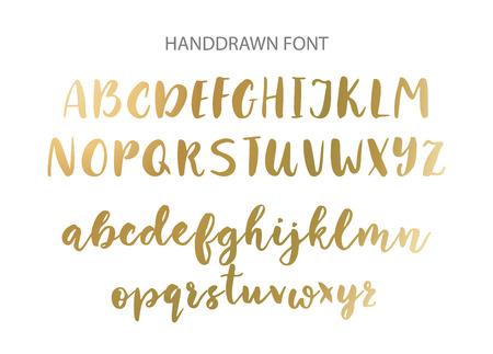 Handwritten Brush font. Hand drawn brush style modern calligraphy. 向量圖像