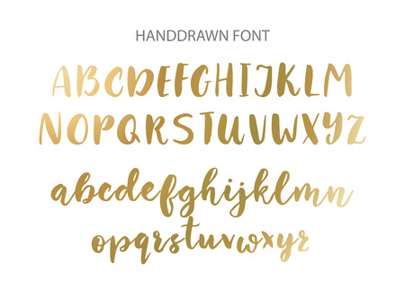 Handwritten Brush font. Hand drawn brush style modern calligraphy. Illustration