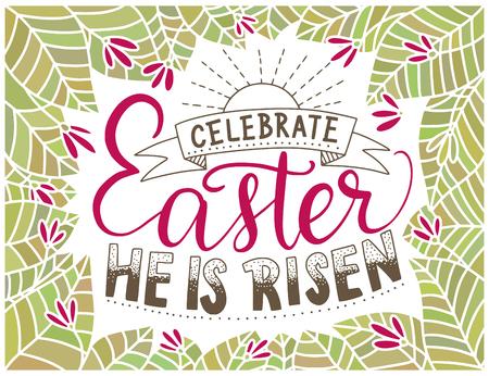 Easter vector lettering card.