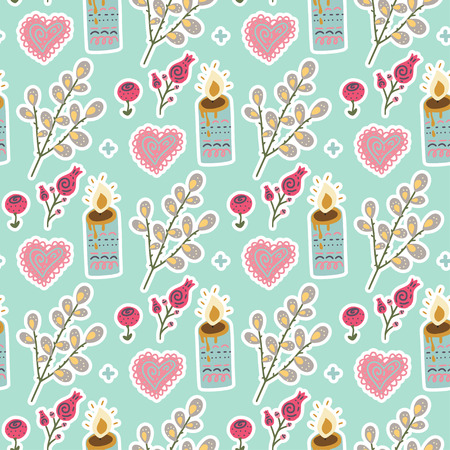 Seamless spring vector pattern.