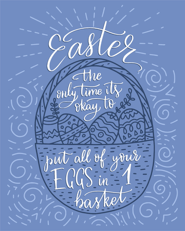 Easter vector lettering card.