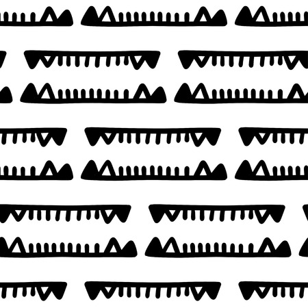 Seamless aztec vector pattern. Tribal traditional indian fabric design. Folk vintage illustration.