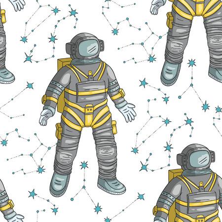 Astronaut  seamless pattern. Ilustrace