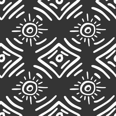 Seamless aztec vector pattern. Tribal traditional indian fabric design. Folk vintage illustration.