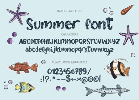Hand drawn calligraphic  font.